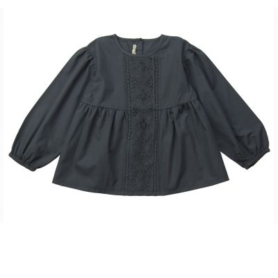 Blouse Amelie Dark Grey by Babe & Tess