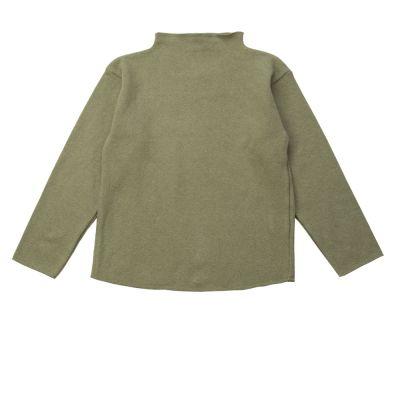 Soft Jersey Turtleneck Sweater Light Green-3Y
