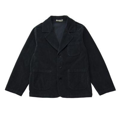 Soft Ribbed Velvet Jacket Dark Grey by Babe & Tess