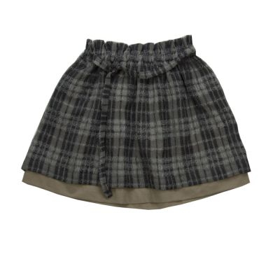 Woolen Skirt Tonia Checked by Anja Schwerbrock-4Y