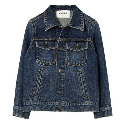 Denim Jacket Nick Medium Blue by Finger in the Nose