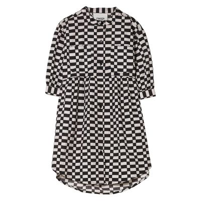 Dress Swing Ash Black/Off-White Check by Finger in the Nose-4/5Y