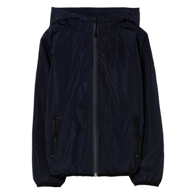 Rain Jacket Buckley Navy Blue by Finger in the Nose-4/5Y