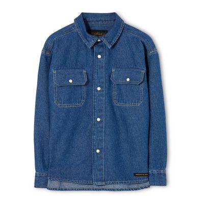 Shirt New Dusk Blue Denim by Finger in the Nose-4/5Y