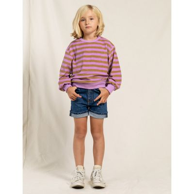 High Waisted Shorts Cherryl Medium Blue by Finger in the Nose
