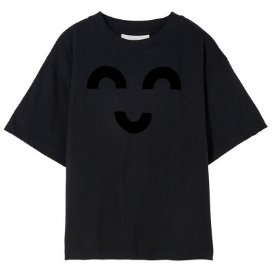 T-Shirt King Ash Black Macaroni by Finger in the Nose-6/7Y