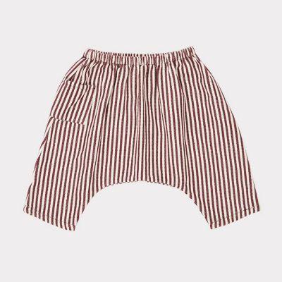 Baby Trousers Fluke Brown/Ecru Stripes by Caramel