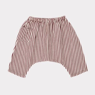 Baby Trousers Fluke Brown/Ecru Stripes by Caramel-3M