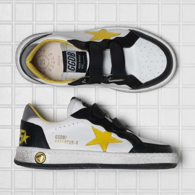 Sneakers Ballstar White Leather Yellow Star by Golden Goose Deluxe Brand-28EU