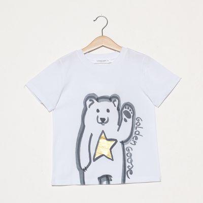 T-Shirt Bear Gold Star by Golden Goose Deluxe Brand