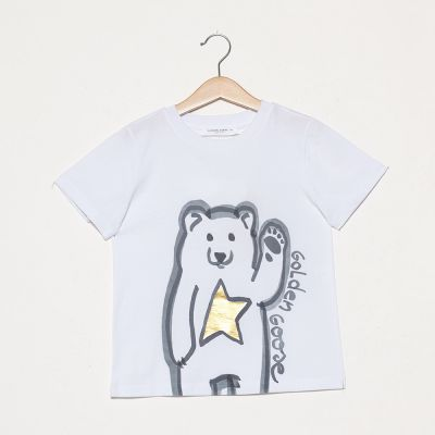 T-Shirt Bear Gold Star by Golden Goose Deluxe Brand-4Y