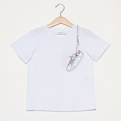T-Shirt Venice White Fuxia Star by Golden Goose Deluxe Brand-4Y