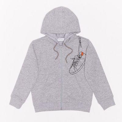 Hoodie Golden Melange Grey Orange Sneaker by Golden Goose Deluxe Brand