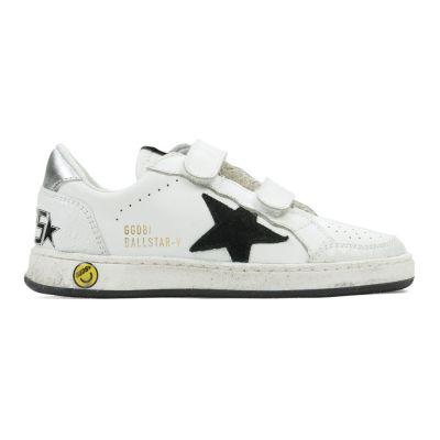 Sneaker Ballstar-V White Leather Black Star