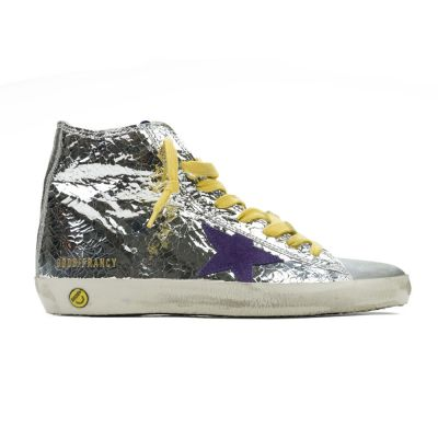 Sneakers Francy Silver Wall Purple Star by Golden Goose Deluxe Brand