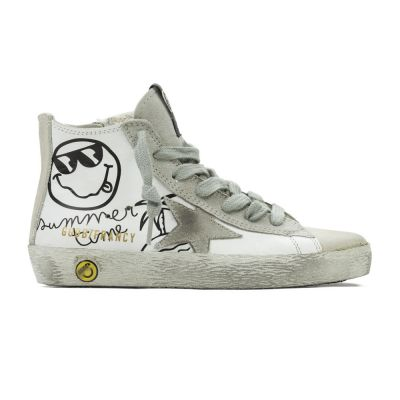 Sneaker Francy Summer Time White Leather by Golden Goose Deluxe Brand