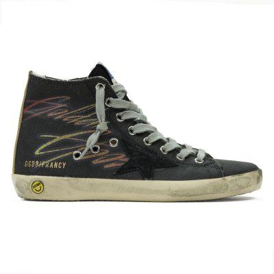 Sneakers Francy Black Canvas Smile