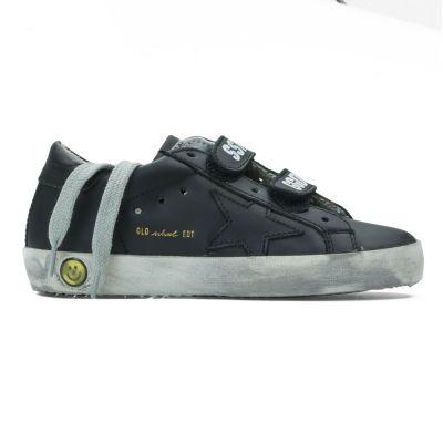 Sneaker Old School Black Leather by Golden Goose Deluxe Brand-24EU
