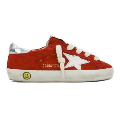 Sneaker Superstar Red Suede Cream Star by Golden Goose Deluxe Brand