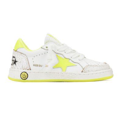 Sneaker Ballstar White Leather Yellow Flourish-24EU