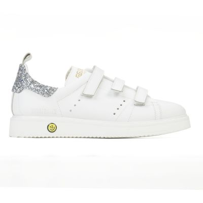 Sneakers Smash White Silver Glitter by Golden Goose Deluxe Brand