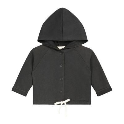 Baby Hoodie Nearly Black by Gray Label-3M