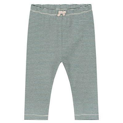 Baby Leggings Blue Grey/Cream by Gray Label-3M