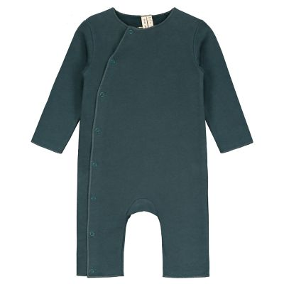 Baby Suit with Snaps Blue Grey by Gray Label-3M