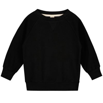 Crewneck Sweater Nearly Black by Gray Label-3Y