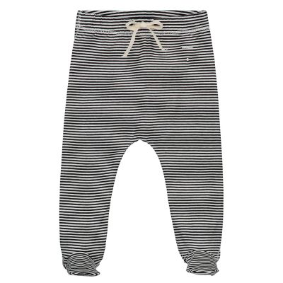 Baby Footies Nearly Black/Cream by Gray Label-3M