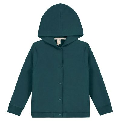 Hooded Cardigan Blue Grey by Gray Label