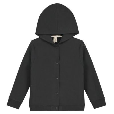 Hooded Cardigan Nearly Black by Gray Label