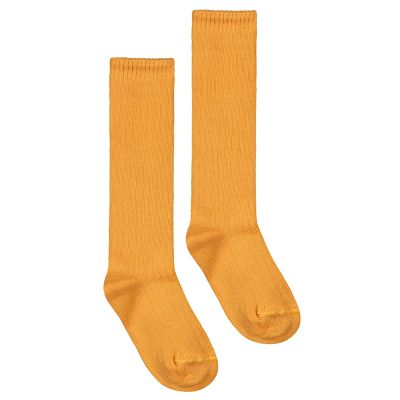 Long Ribbed Socks Mustard by Gray Label