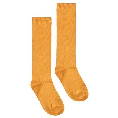 Long Ribbed Socks Mustard by Gray Label-18EU