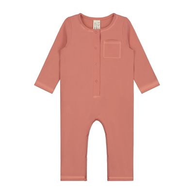 Baby Playsuit Faded Red-3M