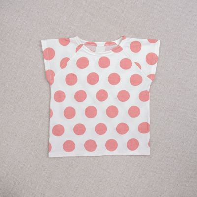 Baby T-Shirt Dots Rose by Ketiketa