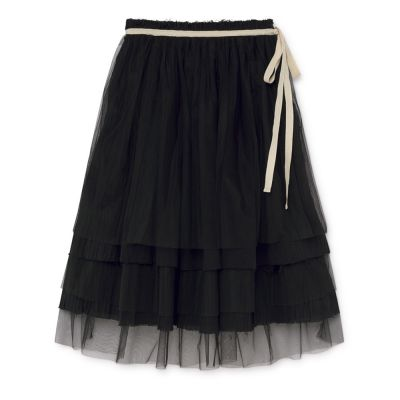 Muslin Fairy Layered Skirt Black
