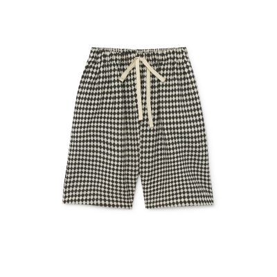 Tiny Diamond Shorts Black and Cream by Little Creative Factory