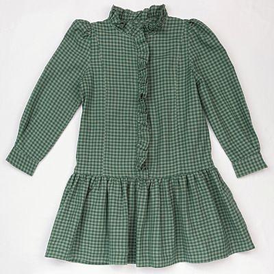 Dress Lucy Green Blue Check by Ketiketa