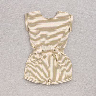 Overall Adele Ochre Striped-3Y