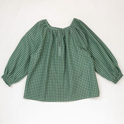 Blouse Dolma Green Blue Check by Ketiketa