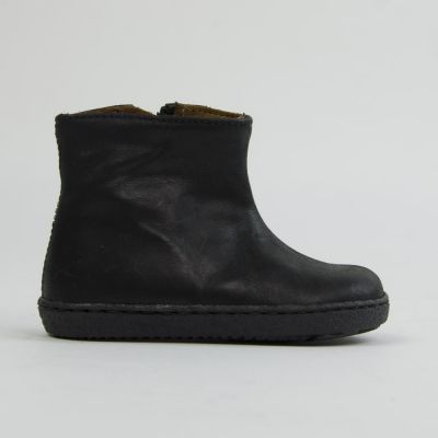 Leather Baby Boots With Zip Black by Pepe Children Shoes
