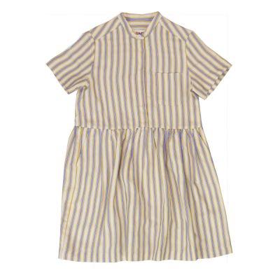 Dress Lentil Honey Blue Striped by Maan-4Y
