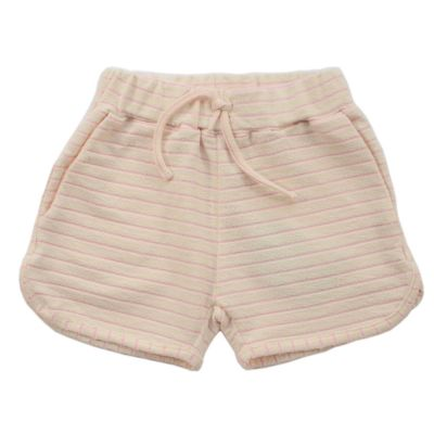 Frottee Shorts Jaws Pink Stripes by Morley-4Y
