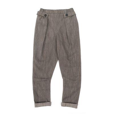 Trousers Pado Herringbone by Anja Schwerbrock-3Y