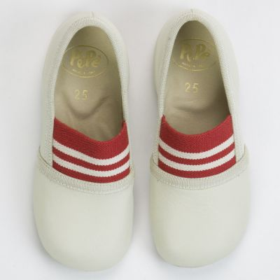 Leather Slippers Light Grey by Pepe Children Shoes
