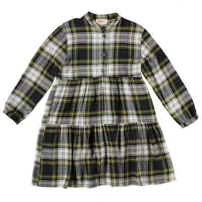 Dress Shiele Green Check by Maan-4Y