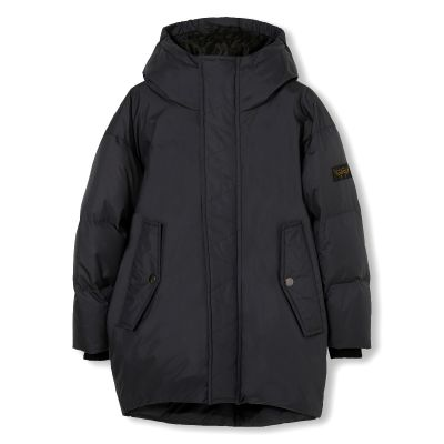 Oversized Down Coat Snowdoll Black by Finger in the Nose