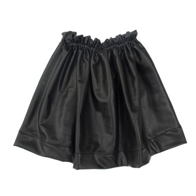 Skirt Tonia Black Faux Leather by Anja Schwerbrock