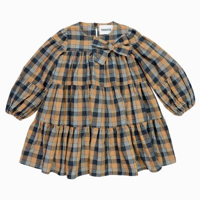 Dress Crinolina Brown Anthracite Check by Touriste-3Y